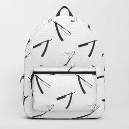 Barbershop pattern with shaving razor Backpack
