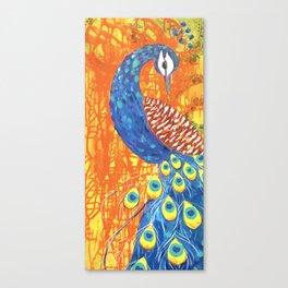 peacock art: Pretty Boy Canvas Print