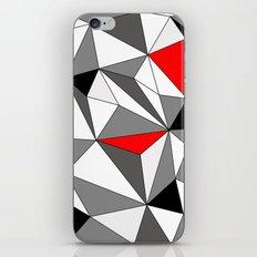 Geo - red, gray, black and white iPhone & iPod Skin