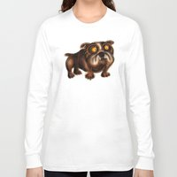 bulldog Long Sleeve T-shirts featuring Bulldog by Riccardo Pertici