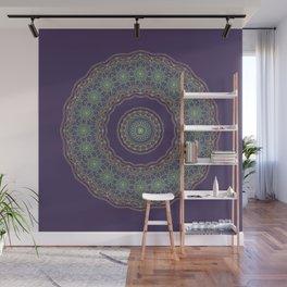 Lotus Mandala in Dark Purple Wall Mural
