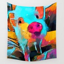 Mini Pig Wall Tapestry