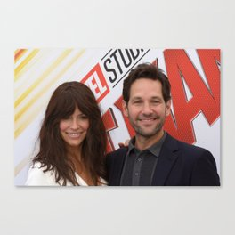 EVANGELINE LILLY AND PAUL RUDD Canvas Print