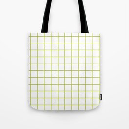 Grid Pattern Chartreuse Tote Bag
