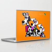 puppies Laptop & iPad Skins featuring Dalmatian Puppies by Chip Dar Juan