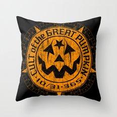 Cult of the Great Pumpkin: Alchemy Logo Throw Pillow