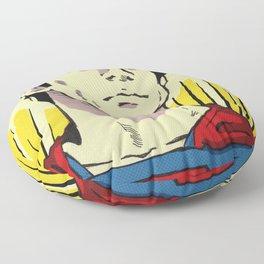 A Superman of steel Floor Pillow