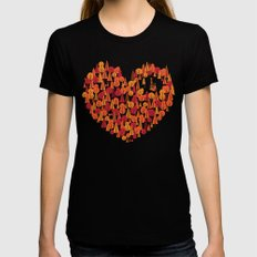 Wild at Heart Black MEDIUM Womens Fitted Tee
