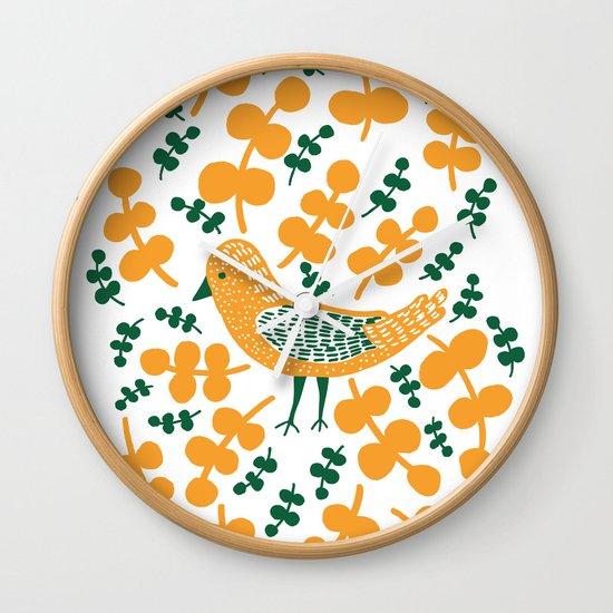 Birdie Bird Wall Clock