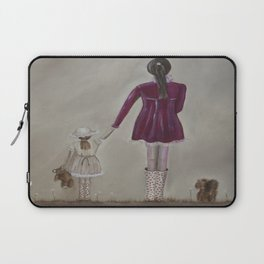 girl and dog Laptop Sleeve