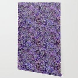Dahlia Flower Pattern 3 Wallpaper