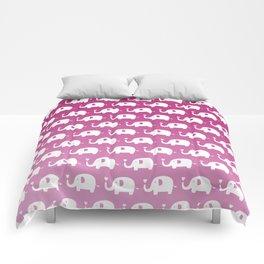 Elephants in Love (Pink) Comforters
