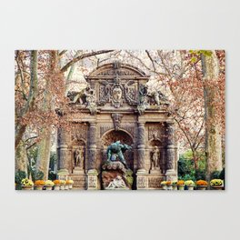Medici Fountain in Autumn Canvas Print