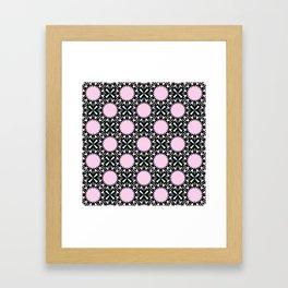 Geometric Pattern - Pink & Light Blue Framed Art Print
