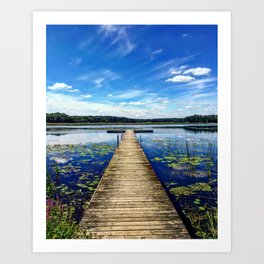 Chain O Lakes Art Print