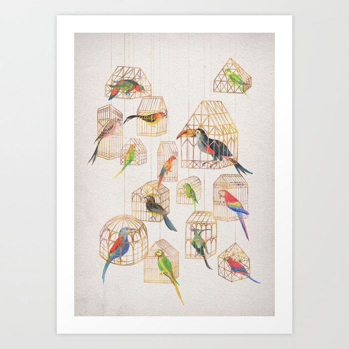Architectural Aviary Art Print