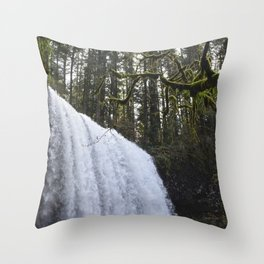 Middle North Falls - Silver Falls State Park Throw Pillow