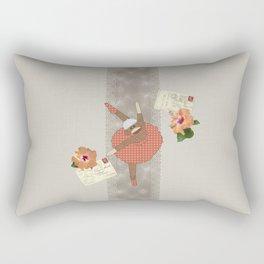 Sock Monkey Ballerina on Tour Rectangular Pillow