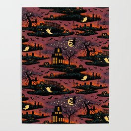 Halloween Night - Bonfire Glow Poster
