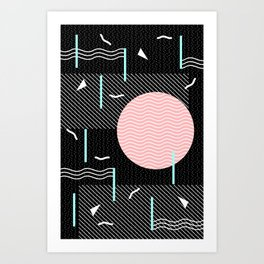 Memphis Summer Night Art Print