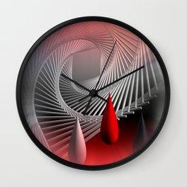 a spiral geometrical design Wall Clock