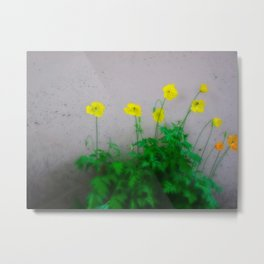 See Me In Flowers Metal Print