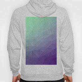 Purple green ombre gradient geometric mesh Hoody