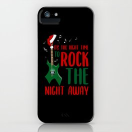 Rock guitare on the night iPhone Case