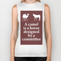 camel Biker Tanks featuring Camel by cocksoupart
