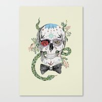 calavera Canvas Prints featuring Calavera by Barbara Amaral