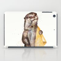 otters iPad Cases featuring otter by Laura Graves