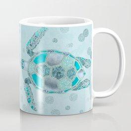 Glamour Aqua Turquoise Turtle Underwater Scenery Coffee Mug