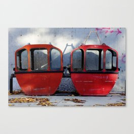 Ski Gondolas Canvas Print