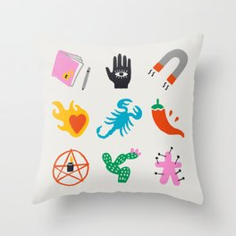 Scorpio Emoji Throw Pillow