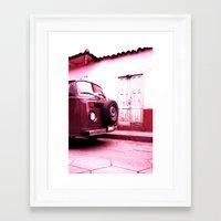 vw bus Framed Art Prints featuring VW Bus 17B by Julia Aufschnaiter