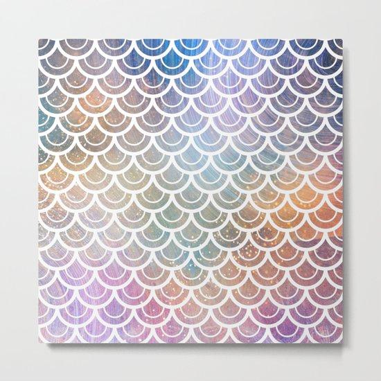 Mermaid Rainbow Sparkle Metal Print