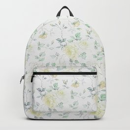 Bohemian baby yellow green vintage roses floral Backpack