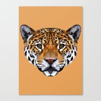 jaguar Canvas Prints featuring Jaguar by peachandguava