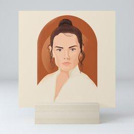 """Rey Skywalker"" by Ariel Sinha Mini Art Print"