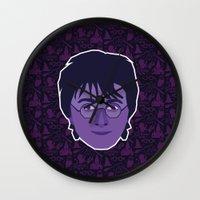 harry Wall Clocks featuring Harry by Kuki