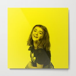 Maisie Williams - Celebrity (Florescent Color Technique) Metal Print