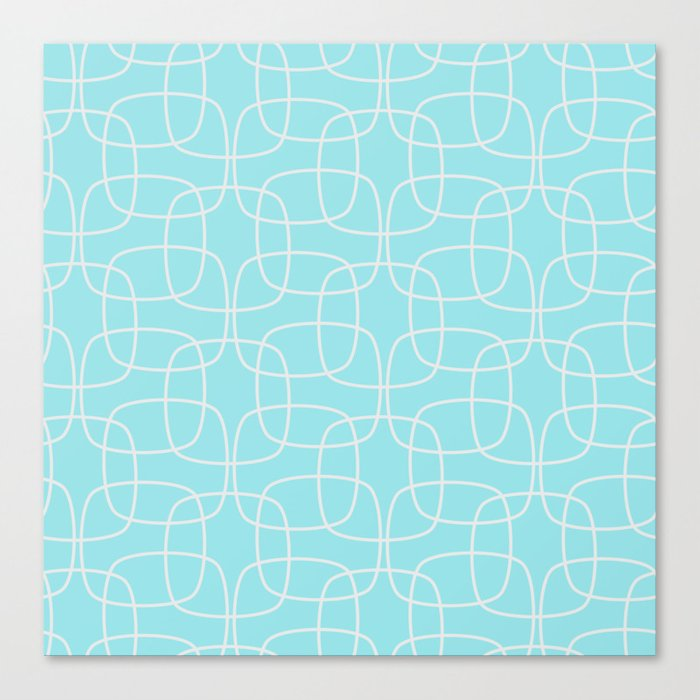 Square Pattern Mint Canvas Print