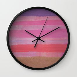 Thick Bronzed Stripes Wall Clock