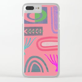 Pink bits Clear iPhone Case