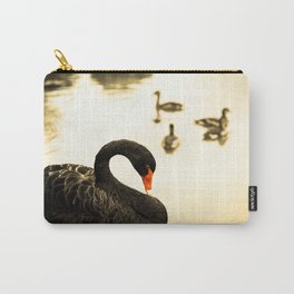 The Swan - Black is the new Golden Carry-All Pouch
