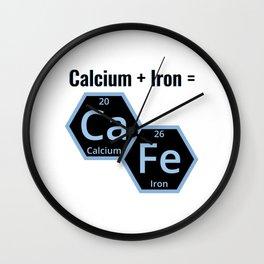 Calcium + Iron Ca Fe Wall Clock