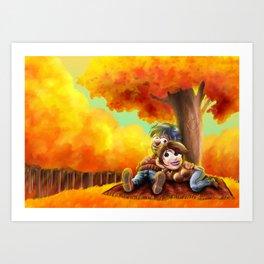 Tenderness in autumn Art Print