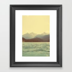 You are a ghost to me - Diablo Lake Framed Art Print