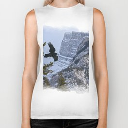 Mt Rundle & Raven (Canadian Rockies) Biker Tank
