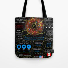 Donuts explained Tote Bag